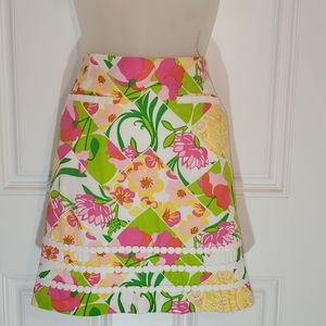 Lilly Pulitzer multi floral skirt